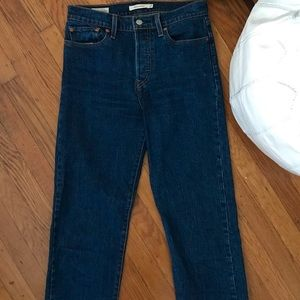 Cropped Wedgie Straight Levi's